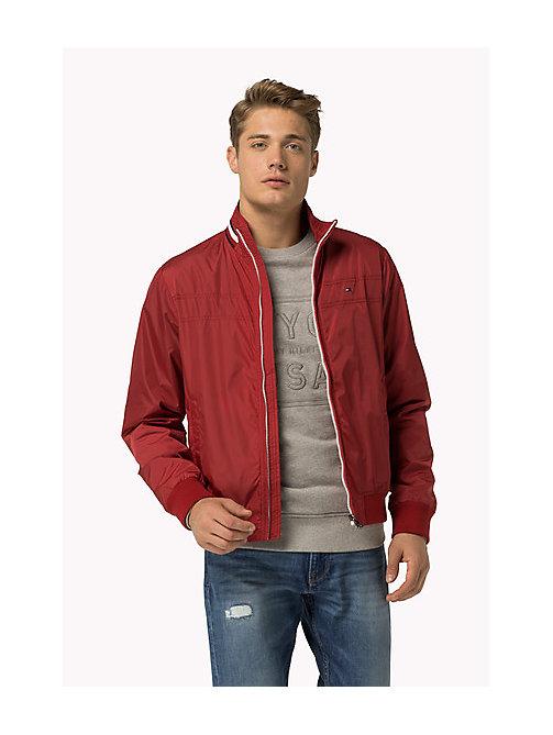 Tommy hilfiger leather bomber jacket