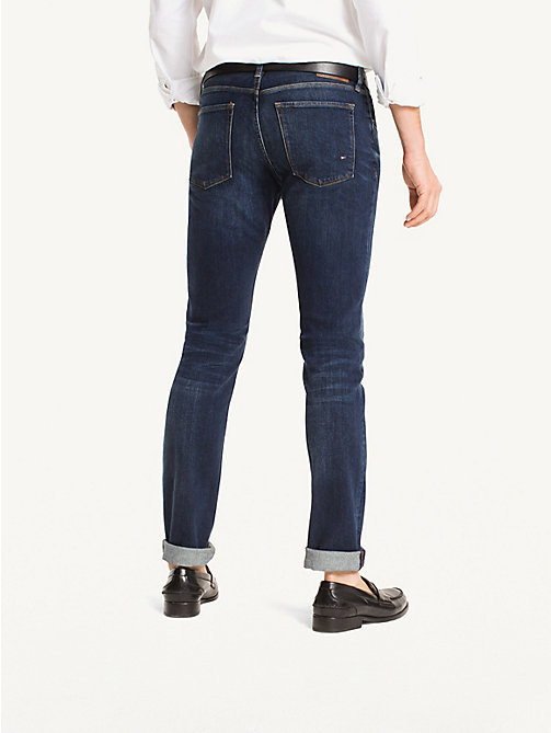 TOMMY HILFIGER Slim Fit Indigo Jeans - NEW DARK STONE - TOMMY HILFIGER Slim-Fit Jeans - detail image 1