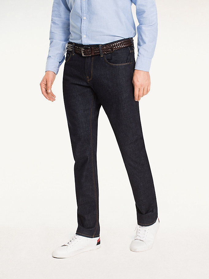 denim straight fit jeans voor heren - tommy hilfiger