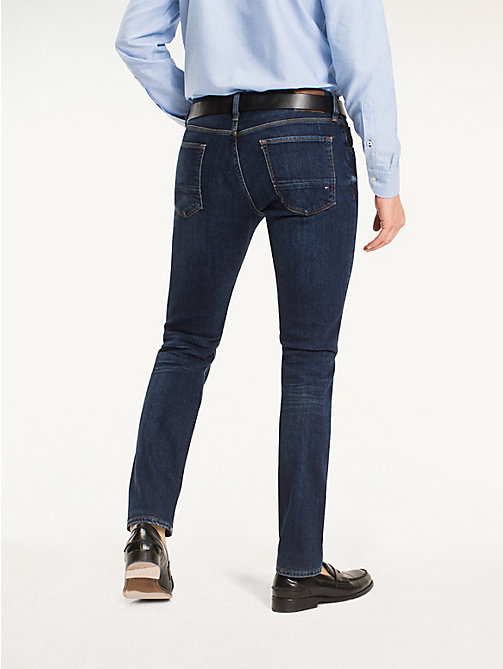 TOMMY HILFIGER Straight Fit Faded Jeans - NEW DARK STONE - TOMMY HILFIGER Straight-Fit Jeans - detail image 1