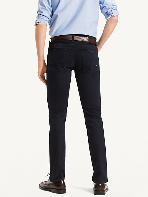 TOMMY HILFIGER Denton Straight Fit Jeans - BLUE BLACK -  Jeans - detail image 1