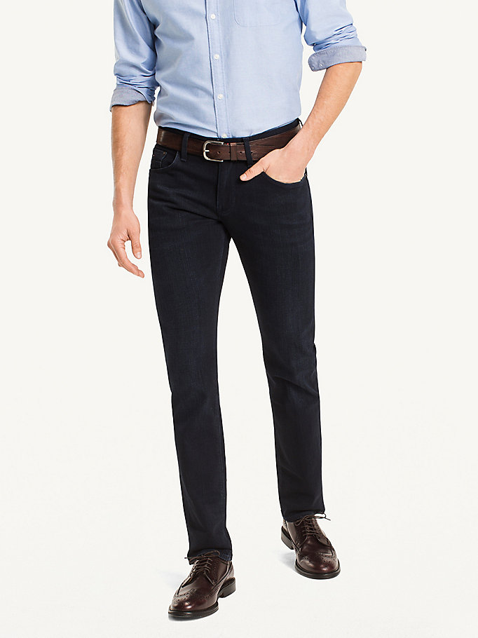 denim straight fit jeans für herren - tommy hilfiger