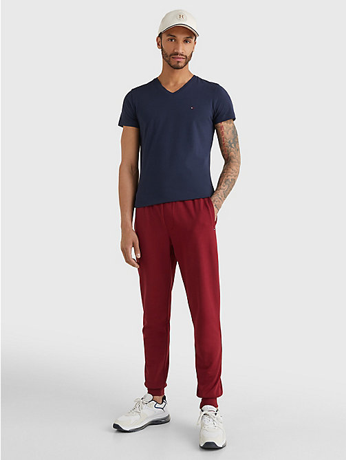 TOMMY HILFIGER V-Neck Slim Fit T-Shirt - NAVY BLAZER - TOMMY HILFIGER T-Shirts - detail image 1