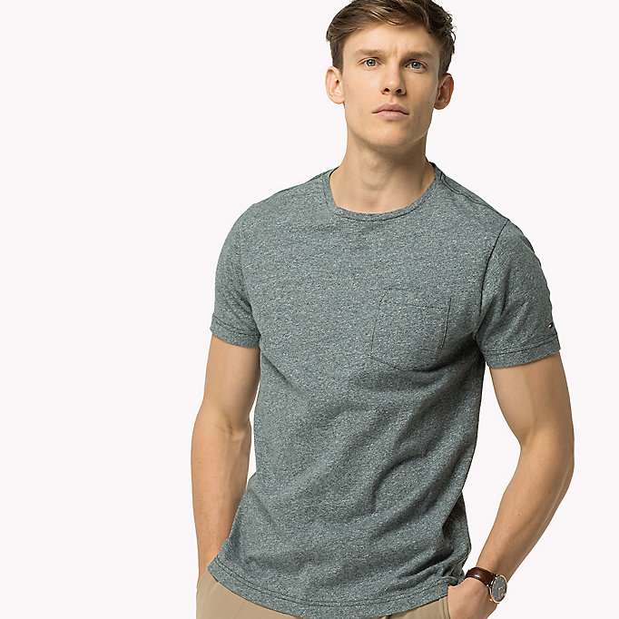 TOMMY HILFIGER Regular Fit T-Shirt - QUIET GRAY HEATHER - TOMMY HILFIGER Clothing - detail image 2