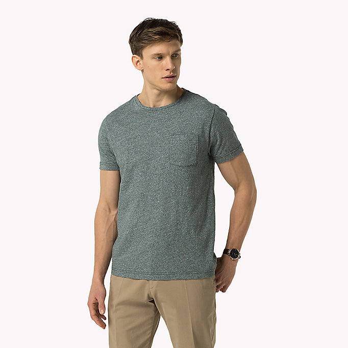 TOMMY HILFIGER Regular Fit T-Shirt - QUIET GRAY HEATHER - TOMMY HILFIGER Clothing - main image