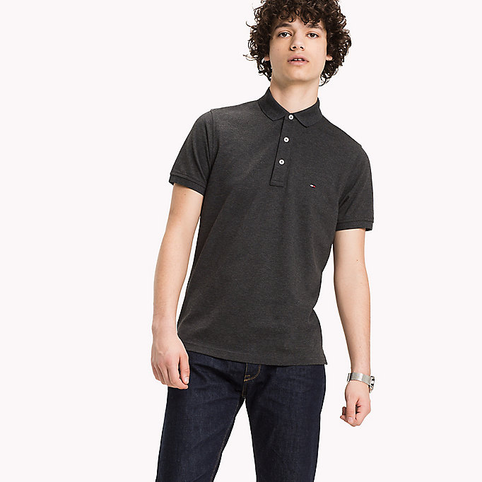 TOMMY HILFIGER Tommy Slim Fit Polo - CLOUD HTR - TOMMY HILFIGER Clothing - main image
