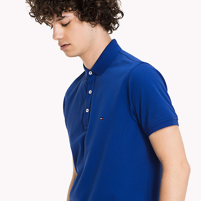 TOMMY HILFIGER Tommy Slim Fit Polo - SURF THE WEB - TOMMY HILFIGER Clothing - detail image 2