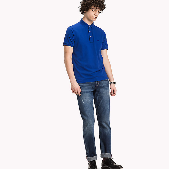 TOMMY HILFIGER Tommy Slim Fit Polo - SURF THE WEB - TOMMY HILFIGER Clothing - main image