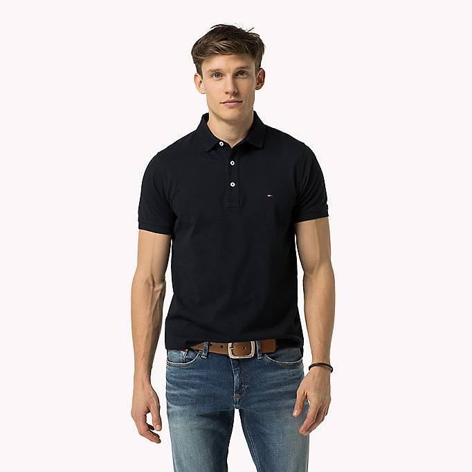 TOMMY HILFIGER Tommy Slim Fit Polo - INDIGO BUNTING - TOMMY HILFIGER Clothing - main image