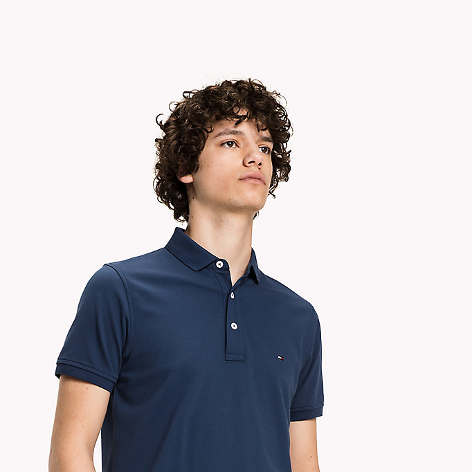 TOMMY HILFIGER Tommy Slim Fit Polo - BRIGHT WHITE - TOMMY HILFIGER Clothing - detail image 2