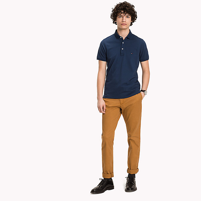 TOMMY HILFIGER Tommy Slim Fit Polo - BRIGHT WHITE - TOMMY HILFIGER Clothing - main image