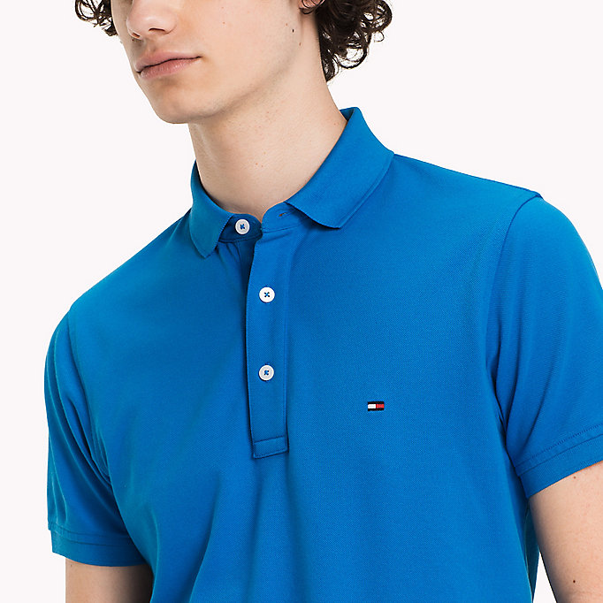 TOMMY HILFIGER Tommy Slim Fit Polo - MAZARINE BLUE - TOMMY HILFIGER Clothing - detail image 2
