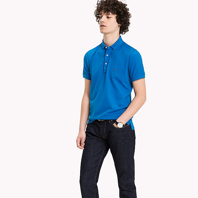 TOMMY HILFIGER Tommy Slim Fit Polo - MAZARINE BLUE - TOMMY HILFIGER Clothing - main image