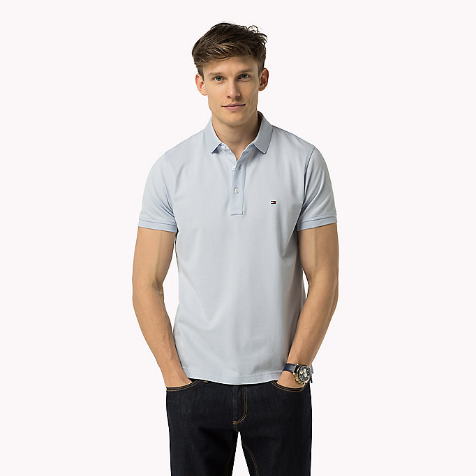 TOMMY HILFIGER Tommy Slim Fit Polo - BATIQUE KHAKI - TOMMY HILFIGER Clothing - main image