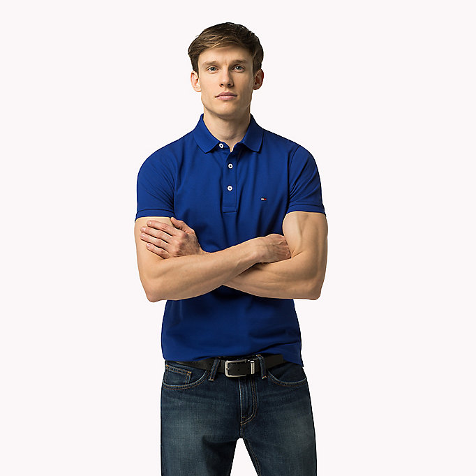 TOMMY HILFIGER Tommy Slim Fit Polo - PONDEROSA PINE - TOMMY HILFIGER Clothing - main image