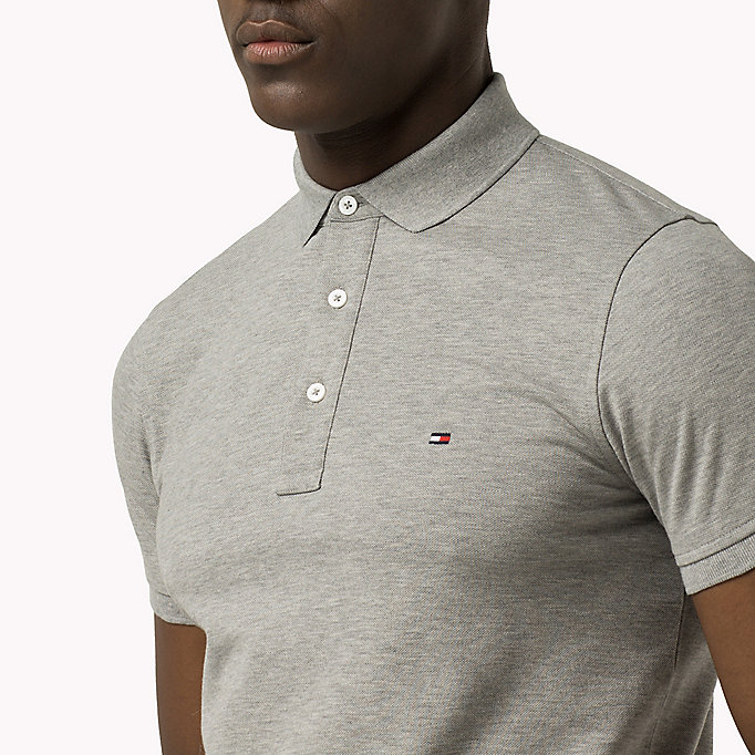 TOMMY HILFIGER Tommy Slim Fit Polo - SARGASSO SEA - TOMMY HILFIGER Clothing - detail image 2