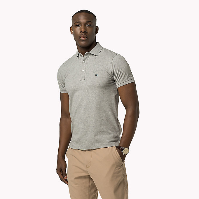 TOMMY HILFIGER Tommy Slim Fit Polo - SARGASSO SEA - TOMMY HILFIGER Clothing - main image