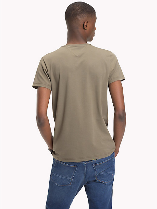 TOMMY HILFIGER Slim Fit T-Shirt - DUSTY OLIVE - TOMMY HILFIGER T-Shirts - detail image 1