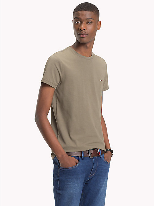 TOMMY HILFIGER Slim Fit T-Shirt - DUSTY OLIVE - TOMMY HILFIGER T-Shirts - main image