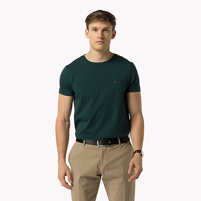 TOMMY HILFIGER Slim Fit T-Shirt - JUNE BUG - TOMMY HILFIGER Kleidung - main image