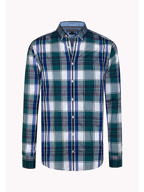 TOMMY HILFIGER Fitted Poplin Check Shirt - MEDITERRANEA / MARITIME BLUE / MULTI - TOMMY HILFIGER Clothing - detail image 1