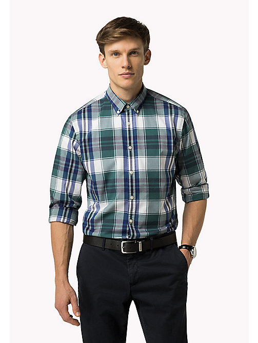 TOMMY HILFIGER Fitted Poplin Check Shirt - MEDITERRANEA / MARITIME BLUE / MULTI - TOMMY HILFIGER Clothing - main image