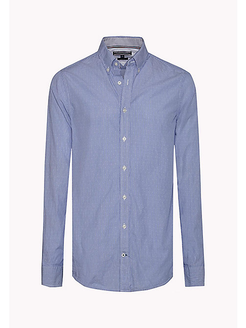 TOMMY HILFIGER Slim Fit Dobby Shirt - SURF THE WEB/ BRIGHT WHITE - TOMMY HILFIGER Clothing - detail image 1