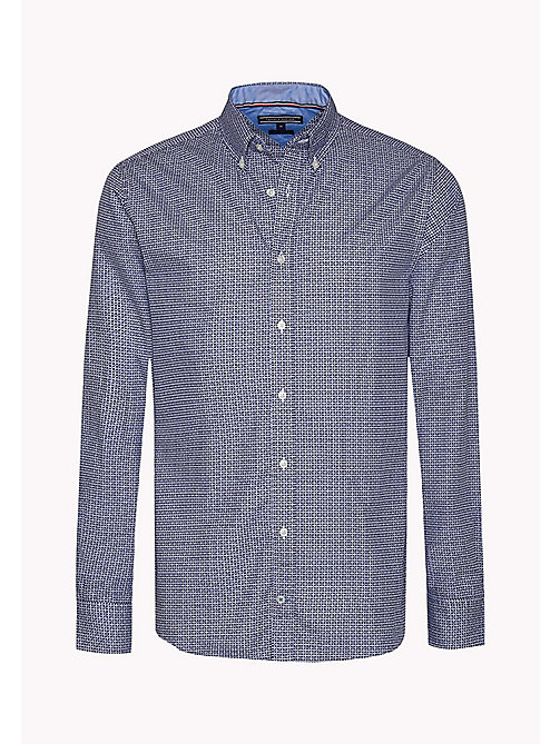 TOMMY HILFIGER Fitted Poplin Shirt - BLUE DEPTHS / MULTI - TOMMY HILFIGER Shirts - detail image 1