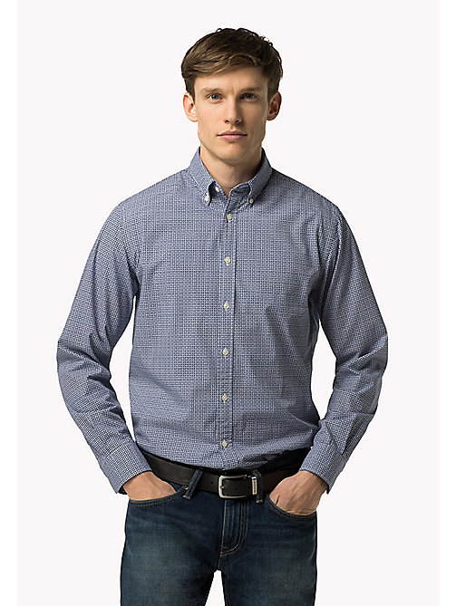 TOMMY HILFIGER Fitted Poplin Shirt - BLUE DEPTHS / MULTI - TOMMY HILFIGER Shirts - main image