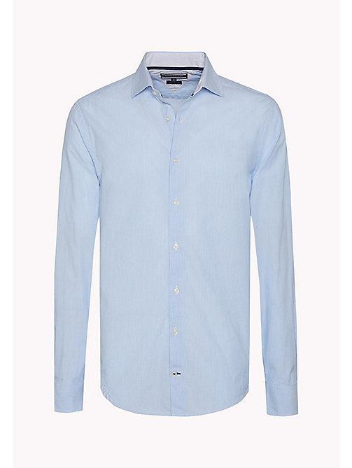 TOMMY HILFIGER Fitted Dobby Shirt - SHIRT BLUE HTR / BRIGHT WHITE - TOMMY HILFIGER Clothing - detail image 1