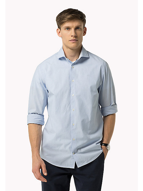 TOMMY HILFIGER Fitted Dobby Shirt - SHIRT BLUE HTR / BRIGHT WHITE - TOMMY HILFIGER Clothing - main image