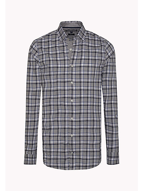 TOMMY HILFIGER Slim Fit Poplin Check Shirt - CLOUD HTR / MARITIME BLUE / MULTI - TOMMY HILFIGER Clothing - detail image 1
