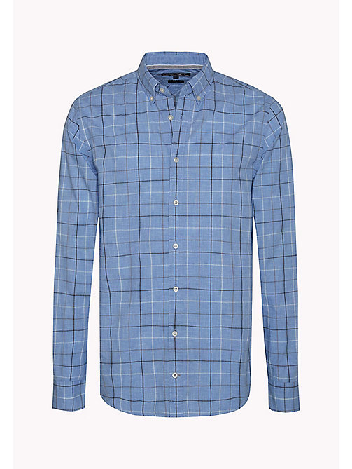 TOMMY HILFIGER Fitted Poplin Check Shirt - SHIRT BLUE HTR / MULTI - TOMMY HILFIGER Clothing - detail image 1