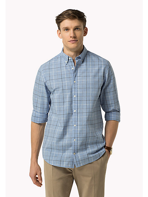 TOMMY HILFIGER Fitted Poplin Check Shirt - SHIRT BLUE HTR / MULTI - TOMMY HILFIGER Shirts - main image