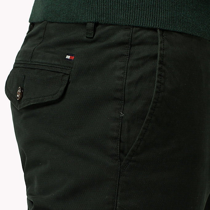 TOMMY HILFIGER Printed Straight Fit Chinos - BLUE DEPTHS - TOMMY HILFIGER Clothing - detail image 3