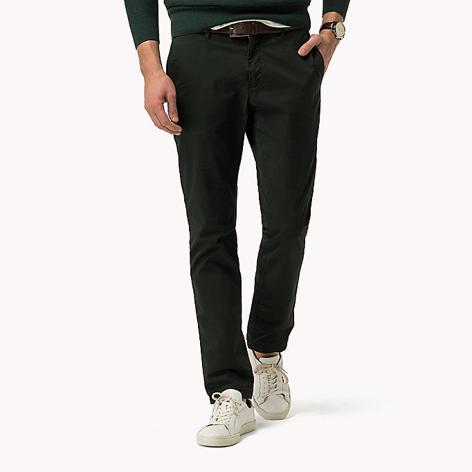 TOMMY HILFIGER Straight Fit Chino mit Print - BLUE DEPTHS - TOMMY HILFIGER Kleidung - main image
