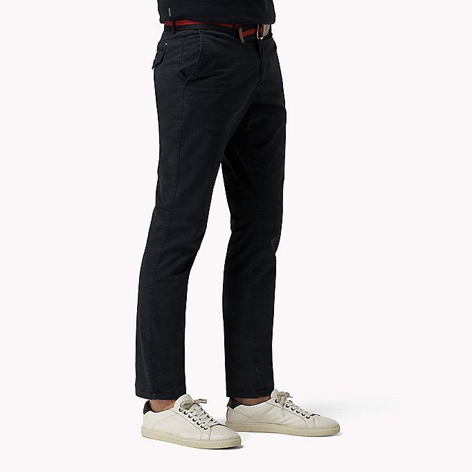 TOMMY HILFIGER Printed Straight Fit Chinos - SCARAB - TOMMY HILFIGER Clothing - detail image 2