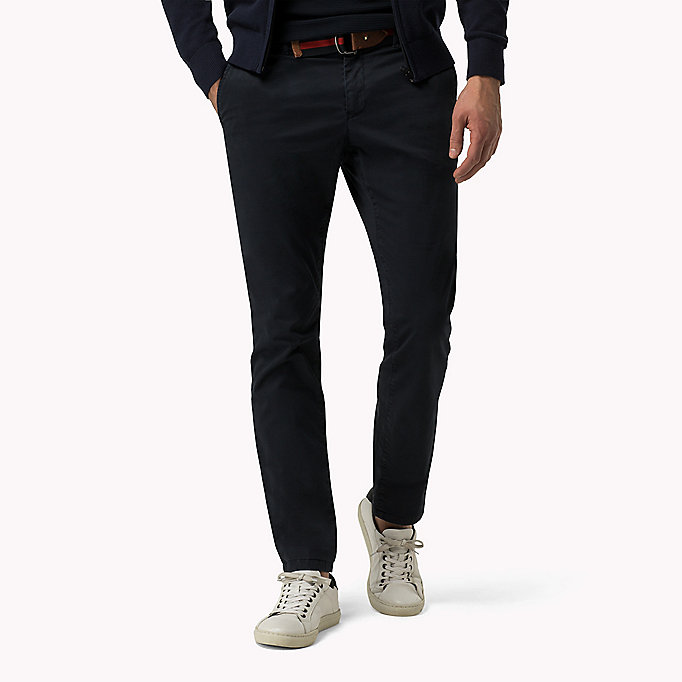 TOMMY HILFIGER Straight Fit Chino mit Print - SCARAB - TOMMY HILFIGER Kleidung - main image