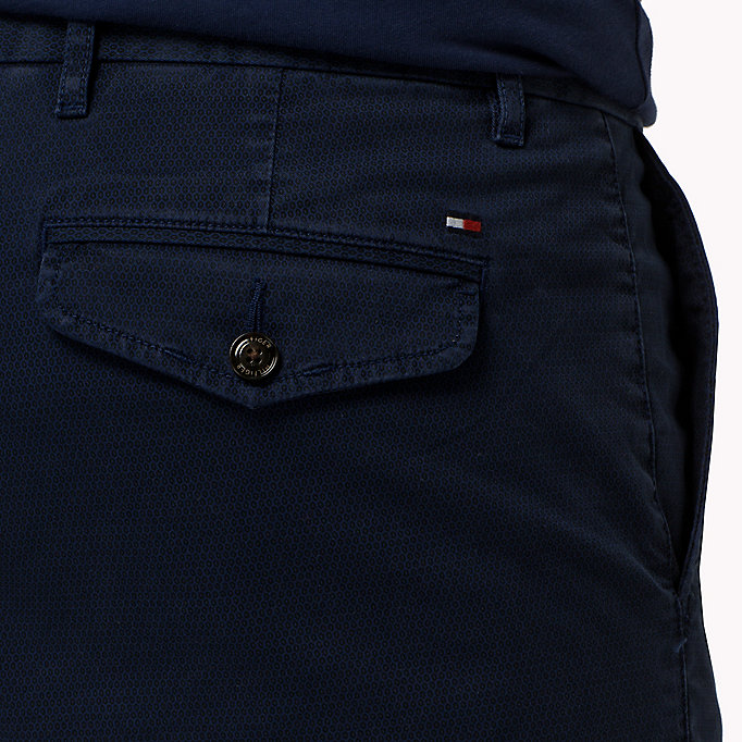 TOMMY HILFIGER Printed Straight Fit Chinos - ASPHALT - TOMMY HILFIGER Clothing - detail image 3