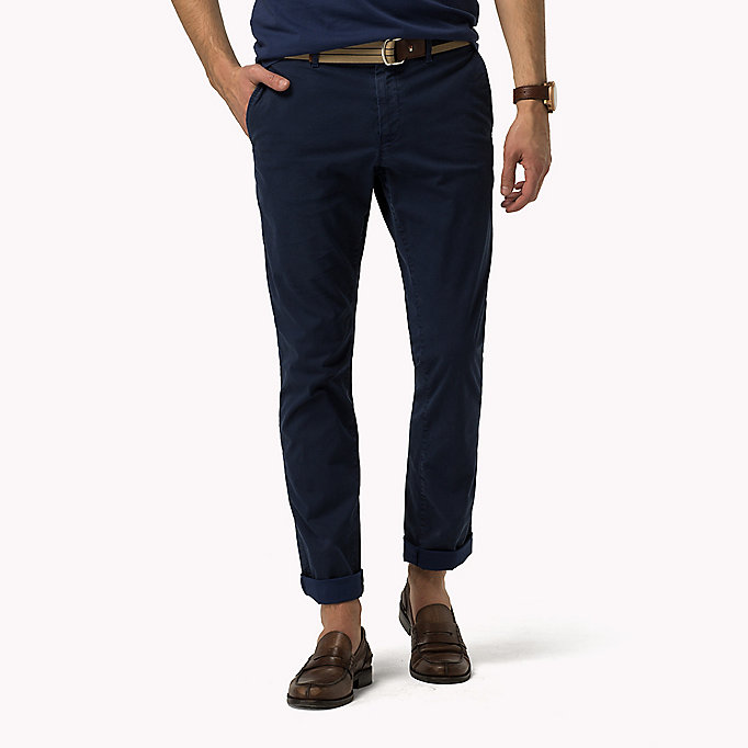 TOMMY HILFIGER Printed Straight Fit Chinos - ASPHALT - TOMMY HILFIGER Clothing - main image