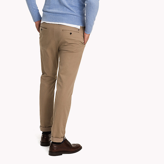 TOMMY HILFIGER Pima Cotton Straight Fit Chinos - SKY CAPTAIN - TOMMY HILFIGER Clothing - detail image 1