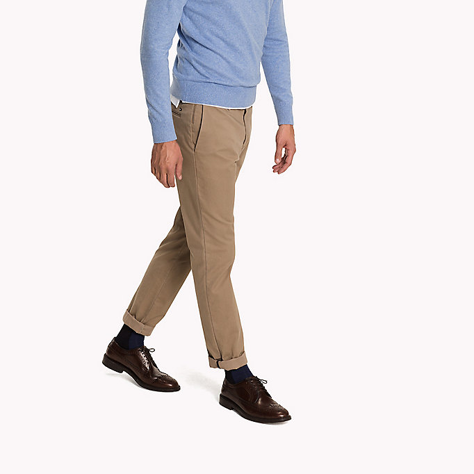 TOMMY HILFIGER Pima Cotton Straight Fit Chinos - SKY CAPTAIN - TOMMY HILFIGER Clothing - detail image 2