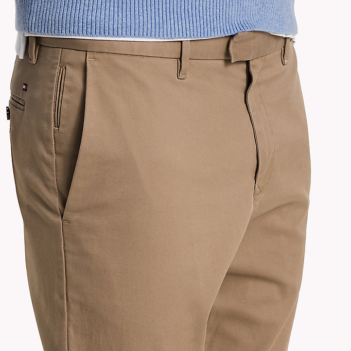 TOMMY HILFIGER Pima Cotton Straight Fit Chinos - SKY CAPTAIN - TOMMY HILFIGER Clothing - detail image 4