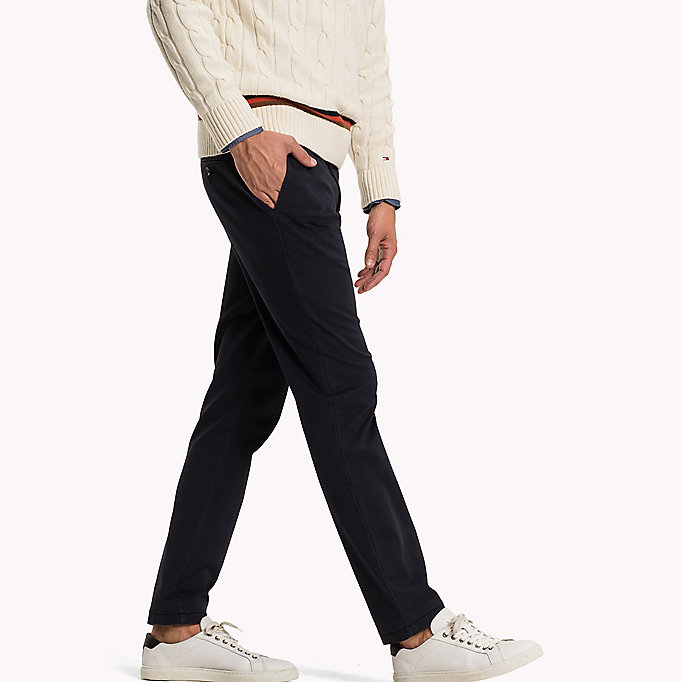 TOMMY HILFIGER Pima Cotton Straight Fit Chinos - BONE WHITE - TOMMY HILFIGER Clothing - detail image 2