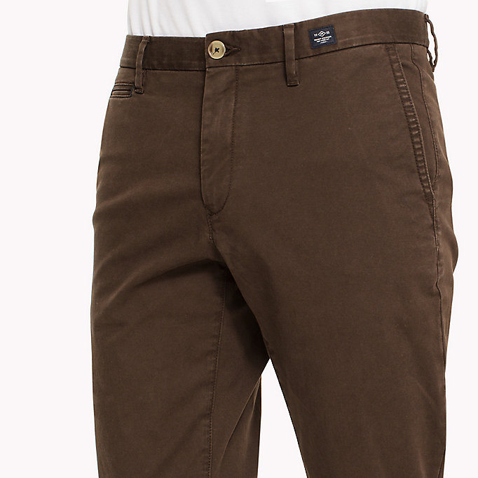 TOMMY HILFIGER Straight Fit Chinos - VINTAGE INDIGO - TOMMY HILFIGER Clothing - detail image 3