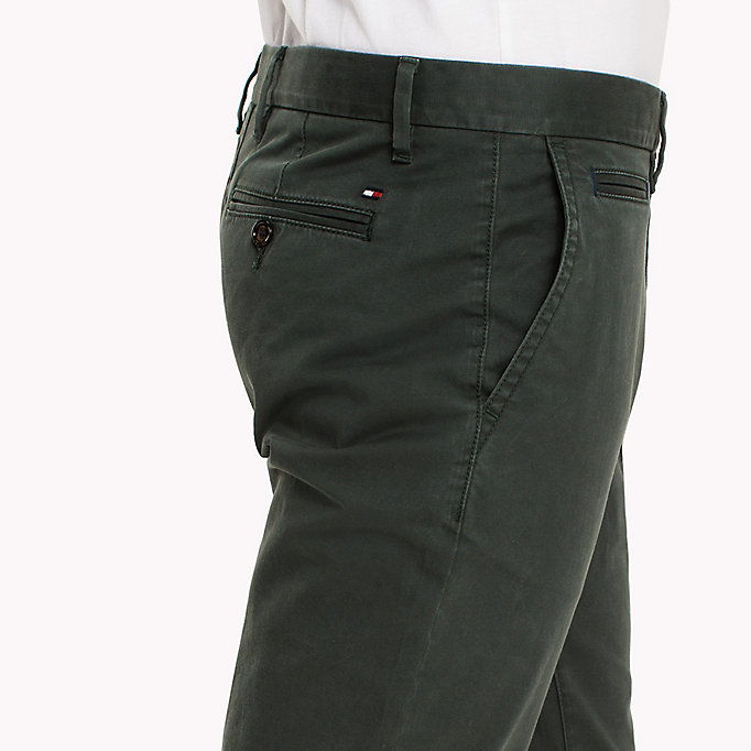 TOMMY HILFIGER Straight Fit Chinos - DELICIOSO - TOMMY HILFIGER Clothing - detail image 4