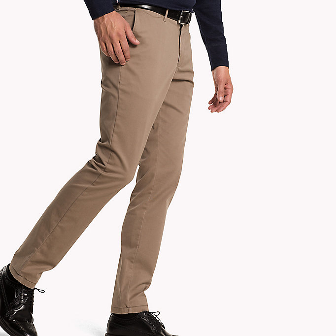 TOMMY HILFIGER Slim Fit Chino - PEACOAT - TOMMY HILFIGER Clothing - detail image 2
