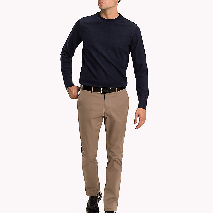 TOMMY HILFIGER Slim Fit Chino - PEACOAT - TOMMY HILFIGER Clothing - main image