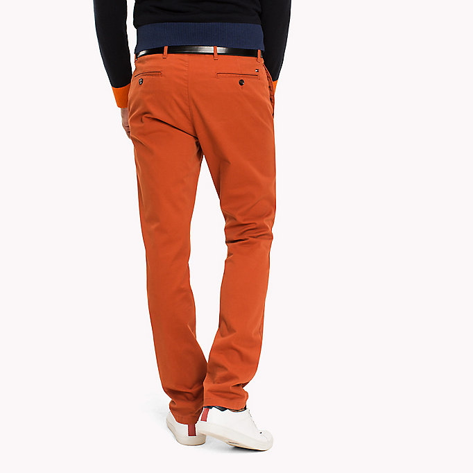 TOMMY HILFIGER Slim Fit Chino - FOSSIL - TOMMY HILFIGER Clothing - detail image 1