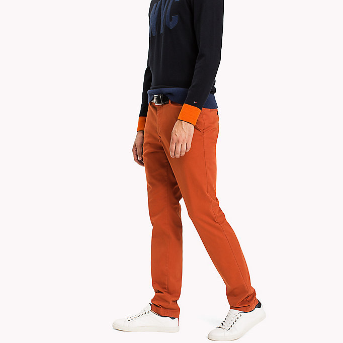 TOMMY HILFIGER Slim Fit Chino - FOSSIL - TOMMY HILFIGER Clothing - detail image 2